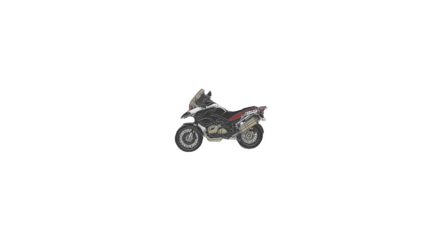 BMW R1200GS, R1200GS Adventure & HP2 Épinglette R 1200 GS Adv. 2006 (rouge)