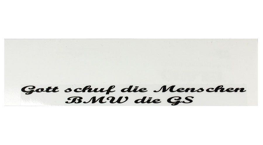 BMW R 100 Sticker Gott GS