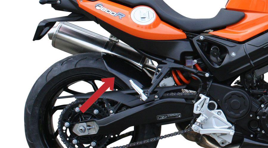 garde boue arri re pour bmw f800r accessoires moto hornig. Black Bedroom Furniture Sets. Home Design Ideas