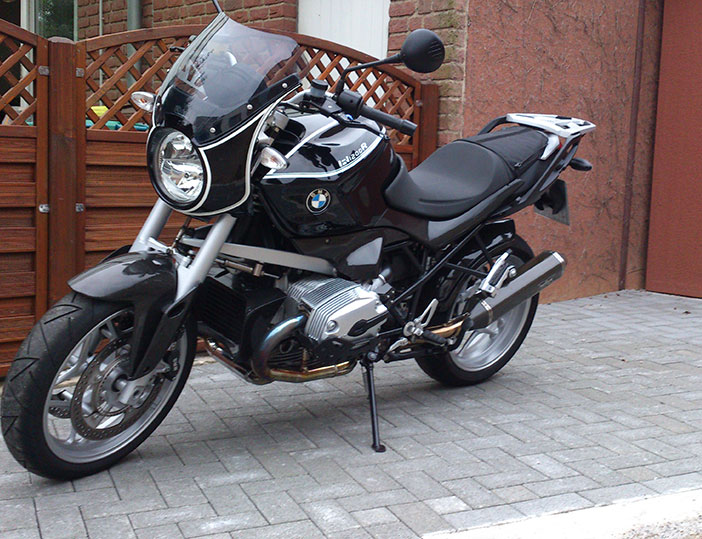 bmw r1200r concours photo moto bmw accessoires moto hornig accessoire pour votre bmw motorrad. Black Bedroom Furniture Sets. Home Design Ideas