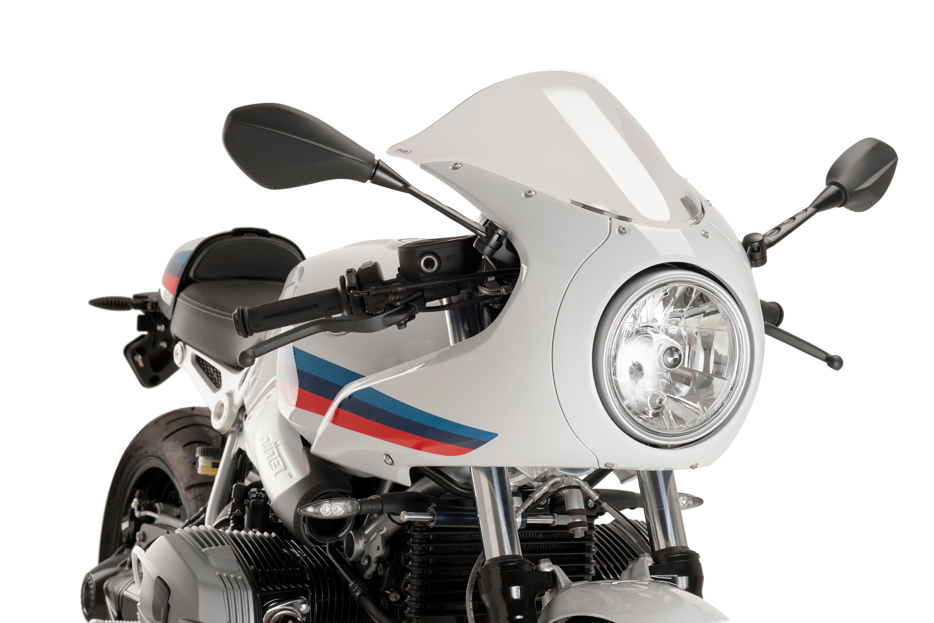 pare brise racing pour bmw rninet racer accessoires moto hornig accessoire pour votre bmw. Black Bedroom Furniture Sets. Home Design Ideas